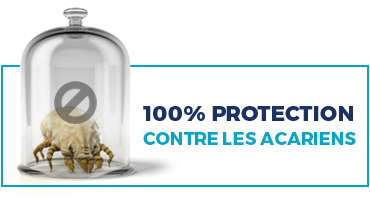 100% PROTECTION contre les acariens